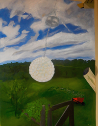 Landscape with Solar Crystal Ball